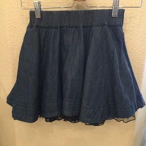 H&M Girls Blue Skirt Size 7-8 Yrs